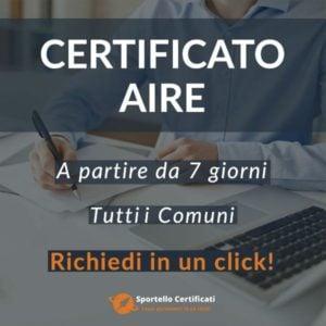 Certificato AIRE
