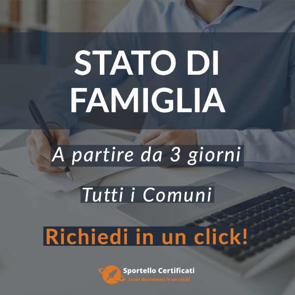 certificato di stato di famiglia 1