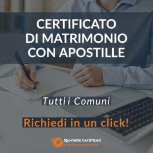 Certificato di Matrimonio con Apostille