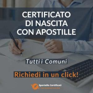 Certificato di Nascita con Apostille